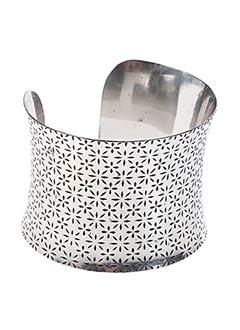 Bracelet Manchette gris VIA LORENZO pour femme