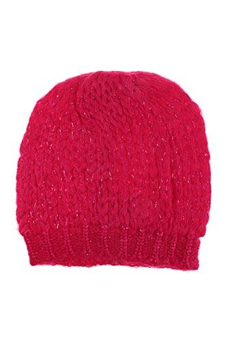 Bonnet rose PALME pour femme