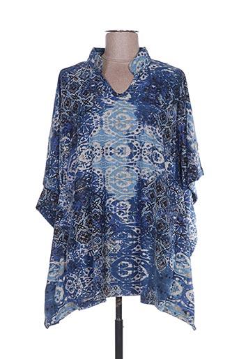 Poncho bleu PALME pour femme