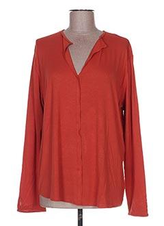 T-shirt manches longues orange GAIA BOLDETTI pour femme