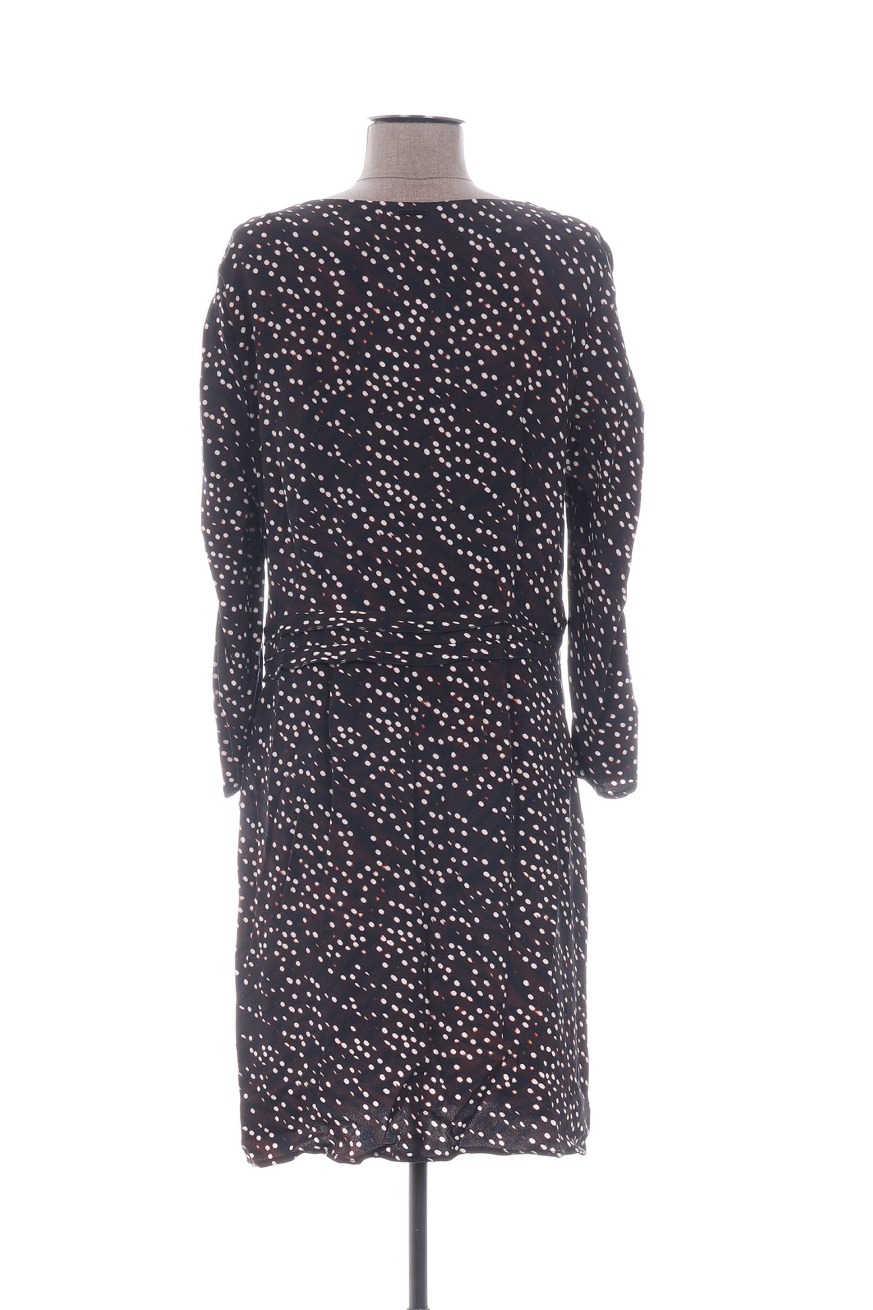 One Step Robes Courtes Femme De Couleur Marron En Soldes Pas Cher 1318429-marron
