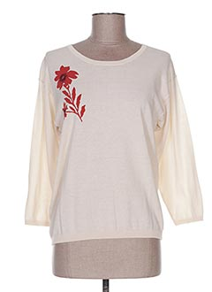 Pull col rond beige NICE THINGS pour femme
