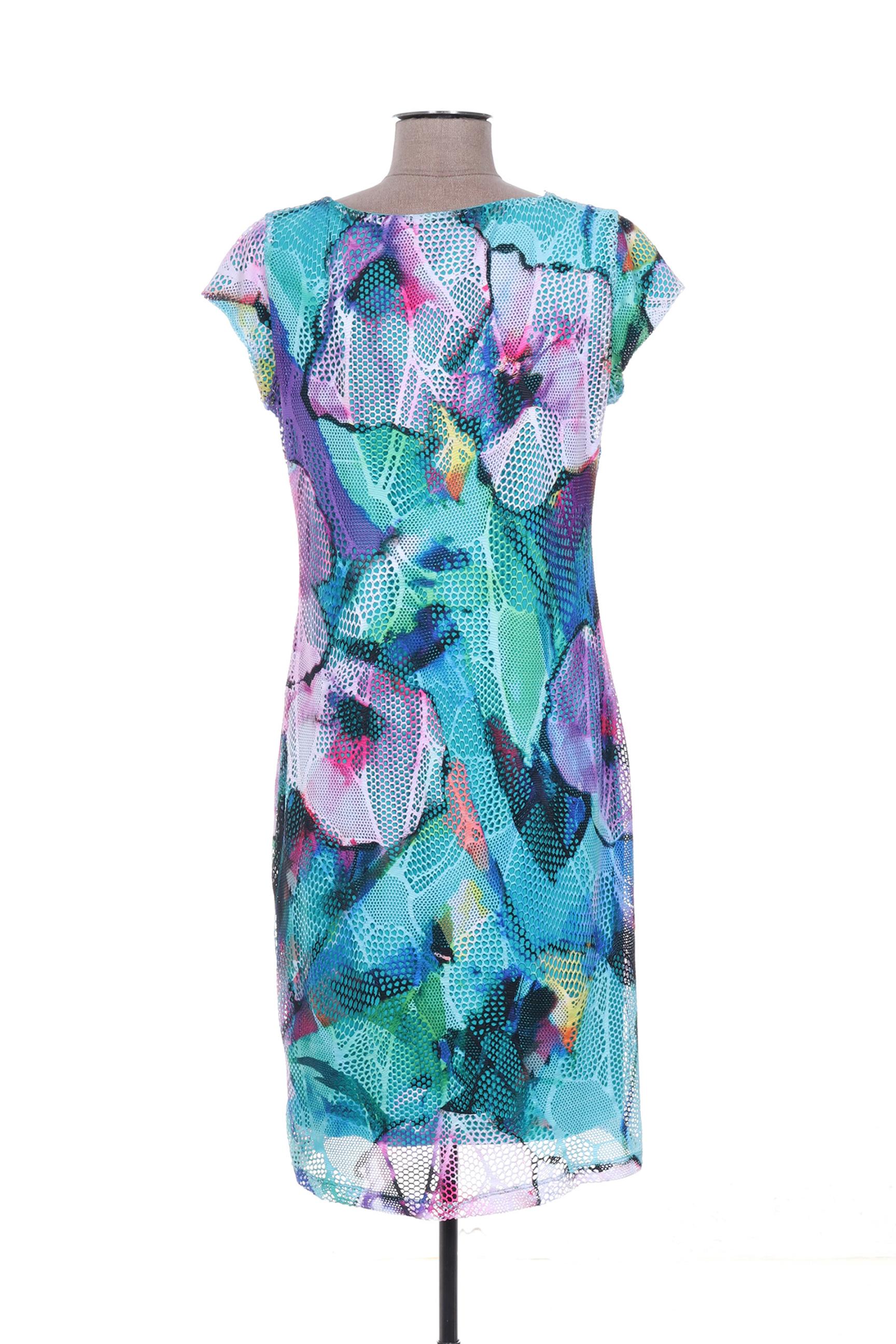 Arona San Francisco Robes Mi Longues Femme De Couleur Bleu En Soldes Pas Cher 1363936-bleu00
