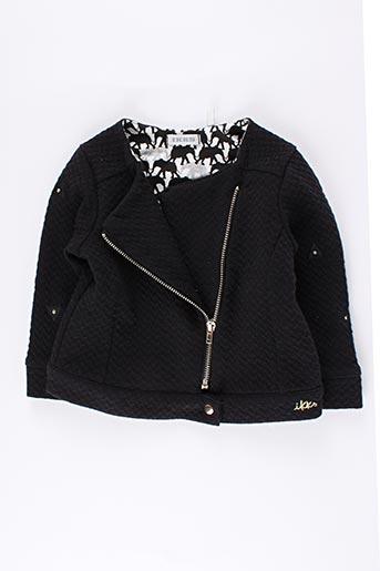 Veste casual noir IKKS pour fille