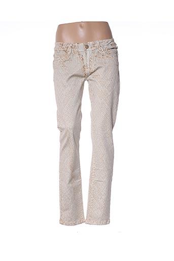 Pantalon casual beige AZERTY pour femme
