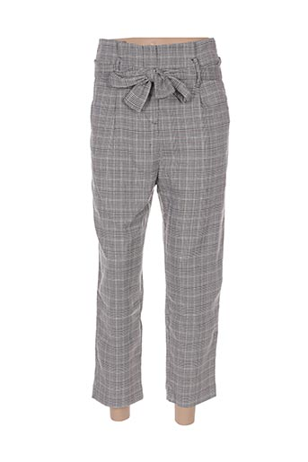 Pantalon 7/8 gris CELISE pour femme