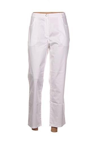 Pantalon casual blanc CHRISMAS'S pour femme