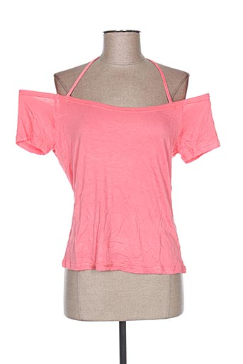 T-shirt manches courtes rose VIRGINIE & MOI pour femme