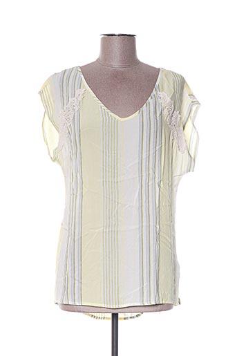 Blouse manches courtes jaune ANNA SCOTT pour femme