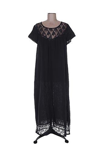 Robe longue noir CHICOSOLEIL pour femme