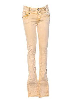 Jeans coupe slim jaune GARCIA pour fille