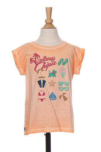 T-shirt manches courtes orange CHIPIE pour fille