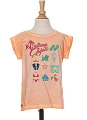 T-shirt manches courtes orange CHIPIE pour fille seconde vue