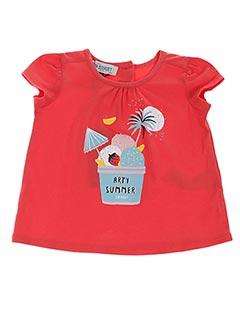 T-shirt manches courtes rouge JEAN BOURGET pour fille