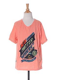 T-shirt manches courtes orange JN-JOY pour garçon