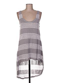Pull tunique gris AGGEL pour femme
