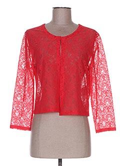 Veste casual rouge DIVAS pour femme