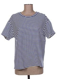 T-shirt manches courtes bleu FRIDAY pour femme