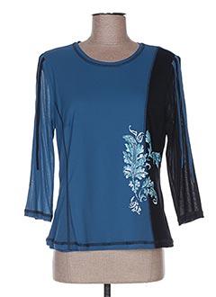 T-shirt manches longues bleu ATIAN pour femme