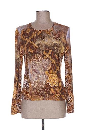 T-shirt manches longues marron ATIAN pour femme