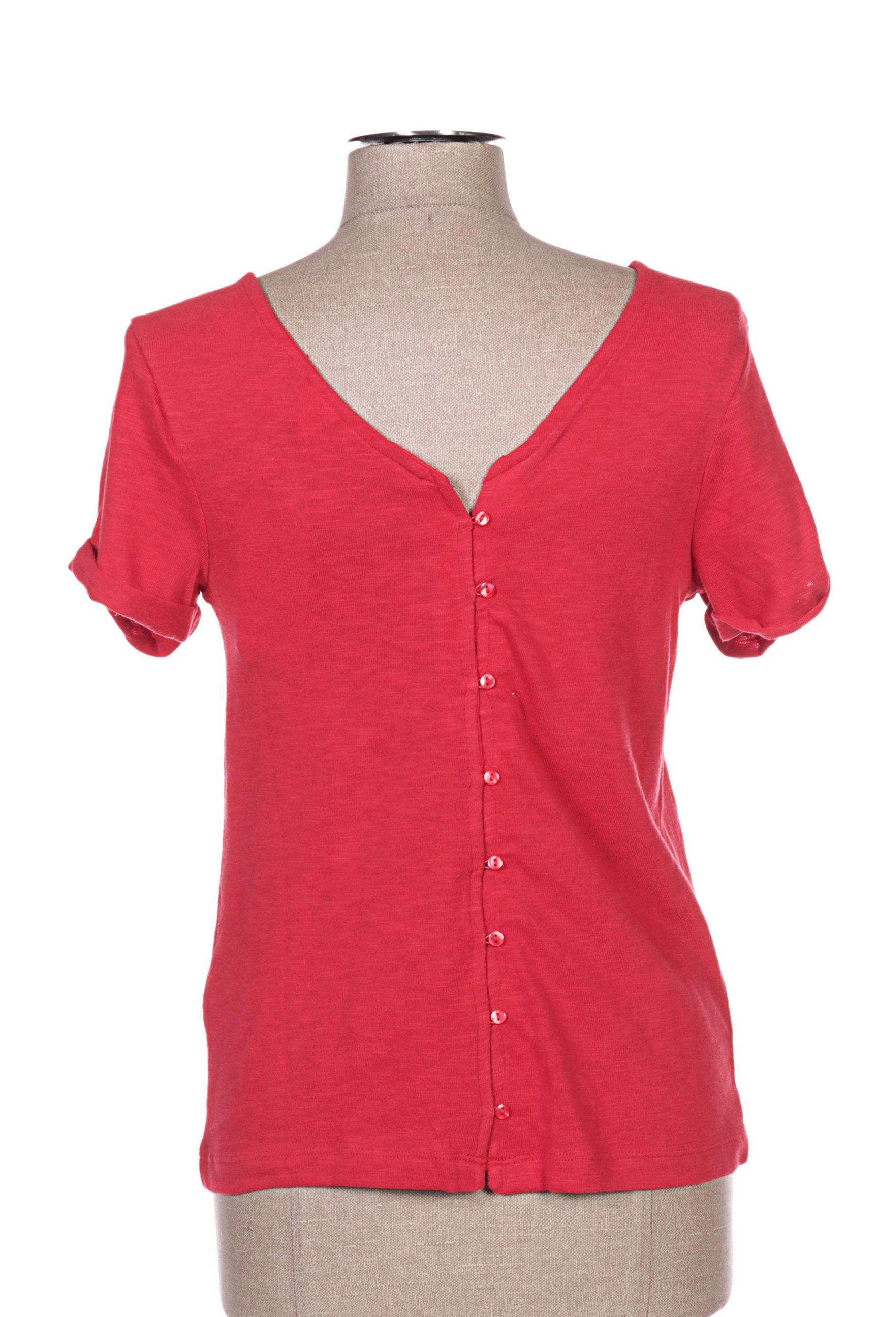 Roxy Manches Courtes 1 Femme De Couleur Rouge En Soldes Pas Cher 1326622-rouge0
