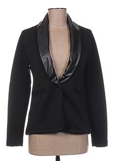 Veste casual noir COQUELICOT pour femme