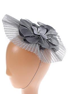 Chapeau gris JULIE PERLOUZE pour femme