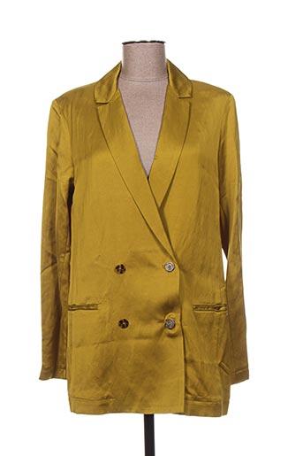 Veste chic / Blazer jaune MAISON SCOTCH pour femme