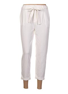 Pantalon 7/8 blanc GARANCE pour femme