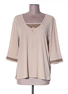T-shirt manches longues beige DANIELA DALLAVALLE pour femme