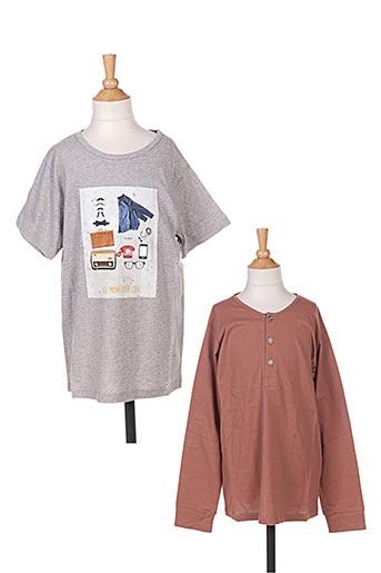 T-shirt manches courtes gris MARESE pour garçon