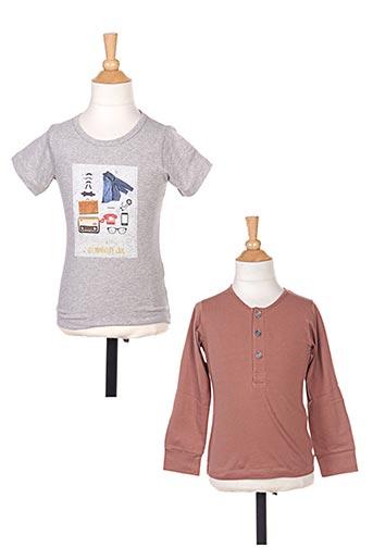 T-shirt manches longues marron MARESE pour garçon