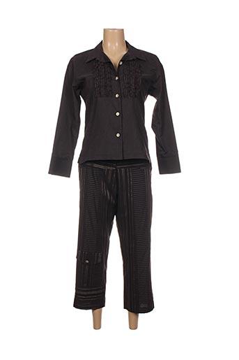 Top/pantalon bleu JEAN GABRIEL pour femme