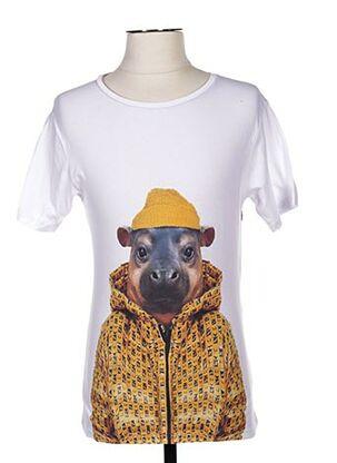 T-shirt manches courtes blanc SAINT NOIR pour homme