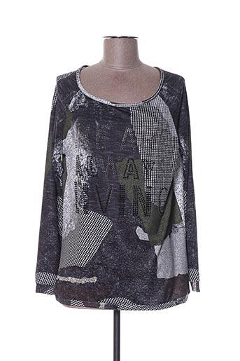T-shirt manches longues gris EGO pour femme