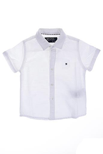 Chemise manches courtes blanc MAYORAL pour garçon