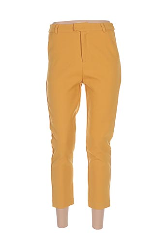Pantalon 7/8 jaune ANDY & LUCY pour femme