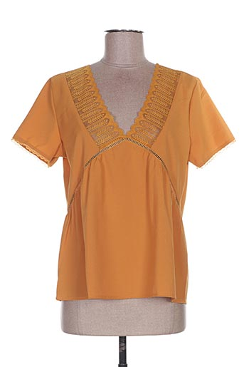 Top jaune ANDY & LUCY pour femme