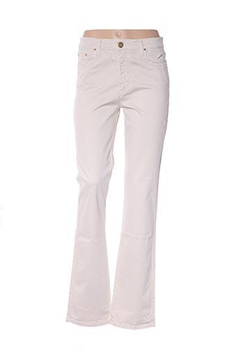 Pantalon casual beige CRN-F3 pour femme