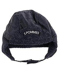 Bonnet noir 3 POMMES pour garçon