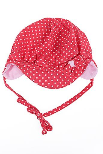 Bonnet rouge STERNTALER pour fille