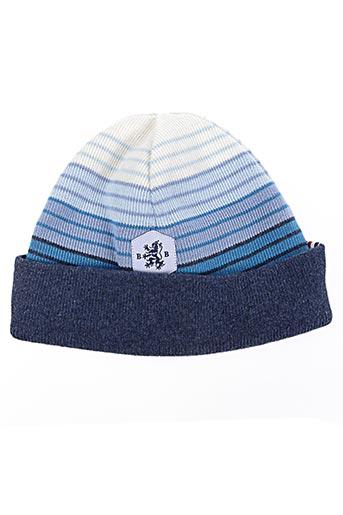 Bonnet bleu BLANC BONNET pour garçon
