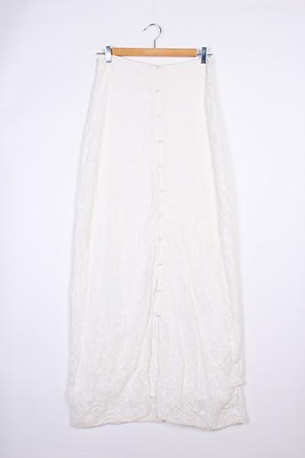 Jupe longue blanc BALZAC pour femme