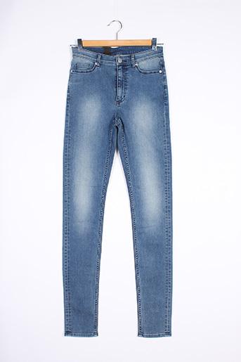 Jeans coupe slim bleu CHEAP MONDAY pour femme
