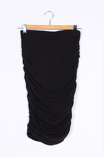 Jupe mi-longue noir BAE pour femme