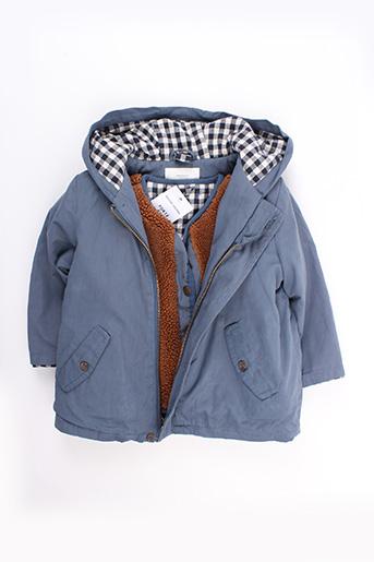 Manteau long bleu CYRILLUS pour garçon