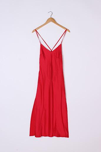 Robe mi-longue rouge BOOHOO pour femme
