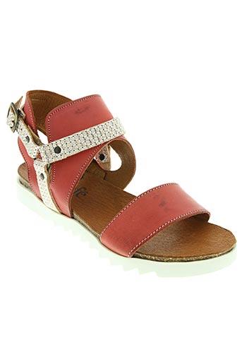 SANTAFE Chaussures SandalesNu pieds de couleur rouge en soldes pas cher 1343494 rouge0 Modz