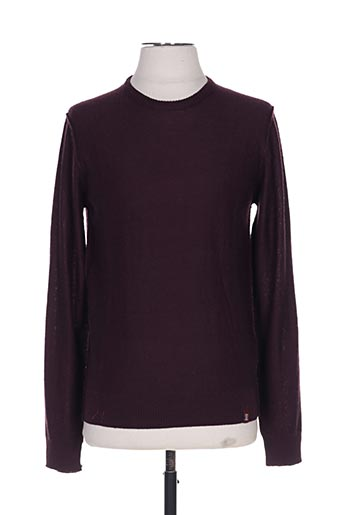 Pull col cheminée violet RECYCLED ART WORLD pour homme
