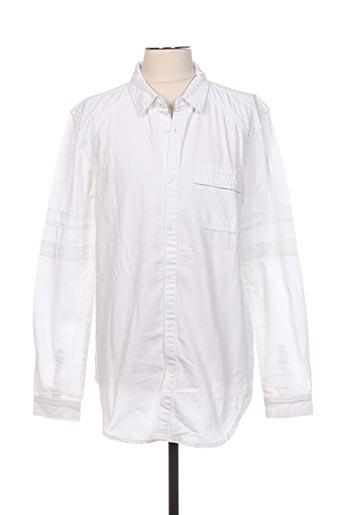 Chemise manches longues blanc BLACK KAVIAR pour homme